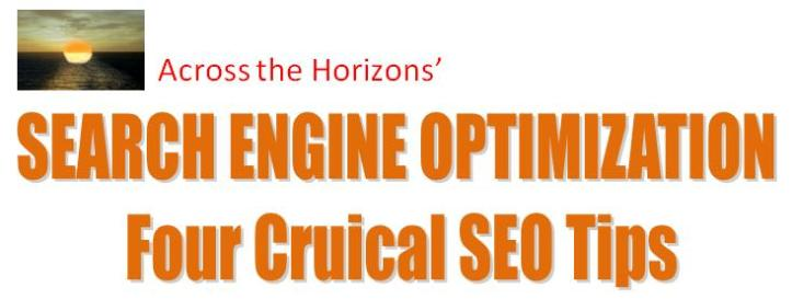 Four Crucial SEO Tips