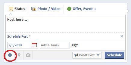 Schedule Facebook Posts