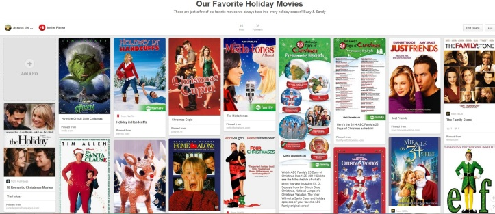 across the horizons pinterest holiday movie board